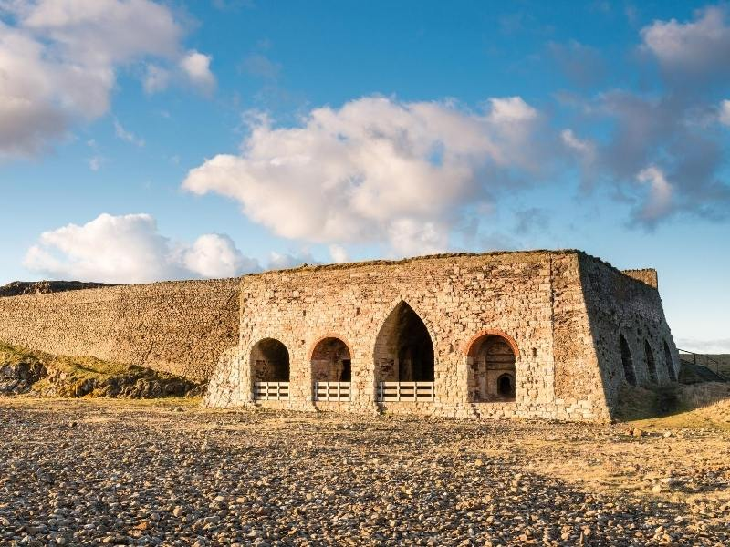 The lime kilns are one of the recommended things to do on Holy Island