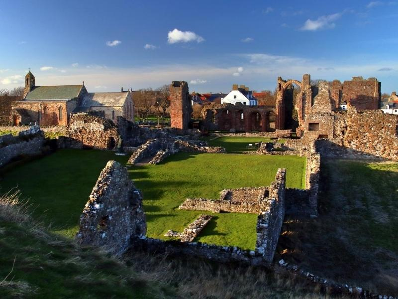 Remains of Lindisfarne Priory