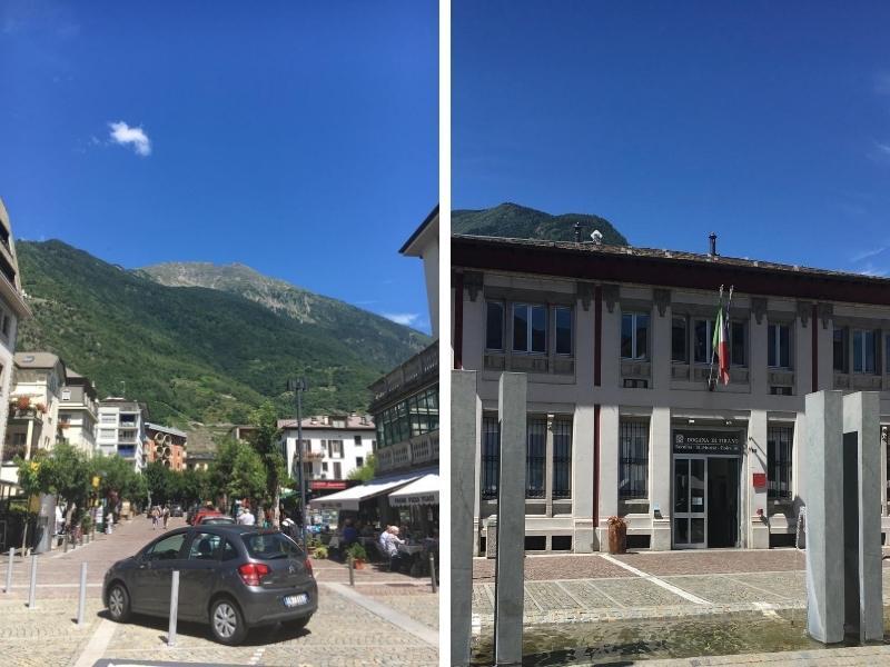 Views of Tirano in Switzerland