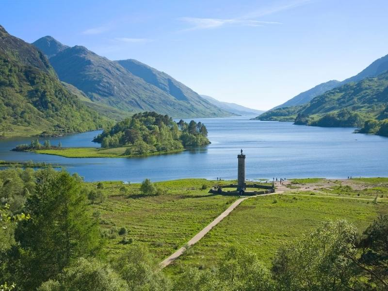 The Jacobite monument and Loch Shiel