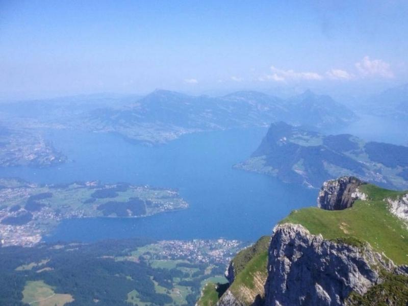 View from Mount Pilatus which can be experiences with many Mt Pilatus Tours
