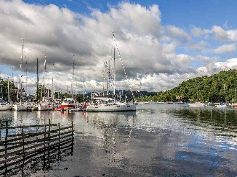 A picture of boats on the lake at  Bowness one of the things to do in Lake Windermere