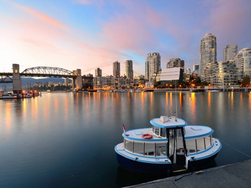 A water taxi in False Creek Vancouver