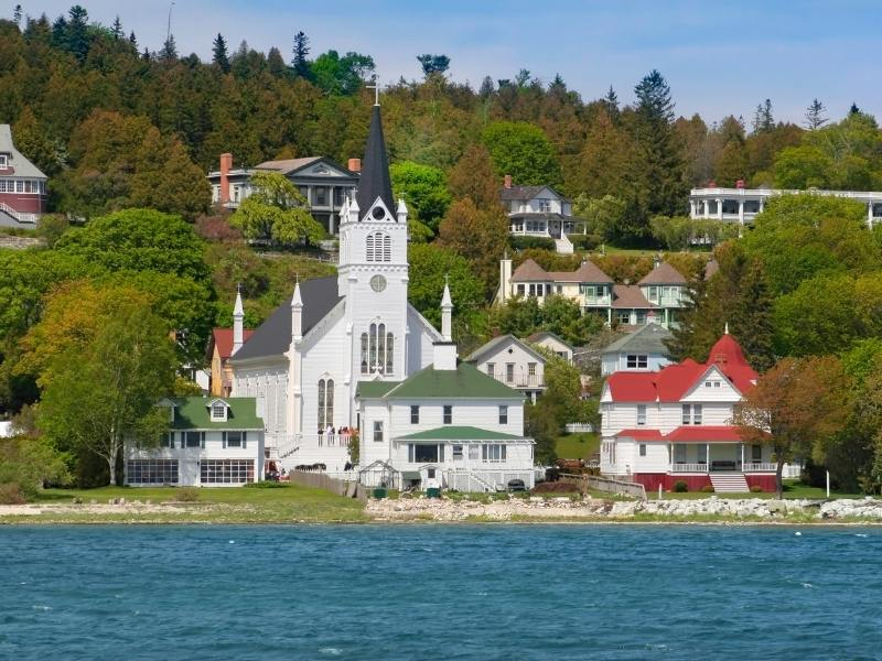 Houses on Mackinac Island