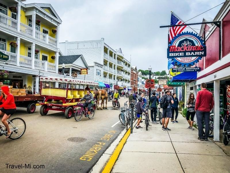 Main Street on Mackinac Island