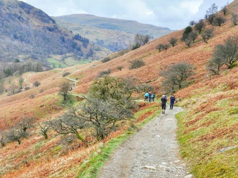 WALKING IN THE LAKE District England - Silver How Hike