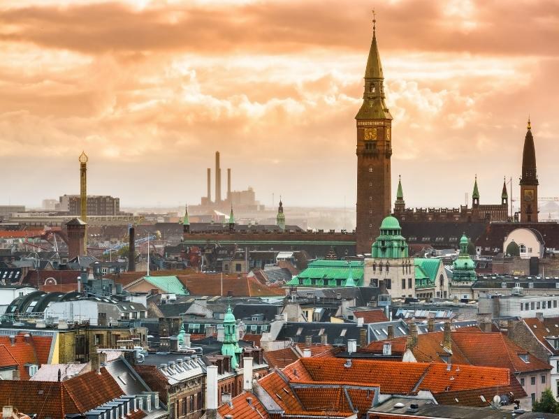 View of Copenhagen city
