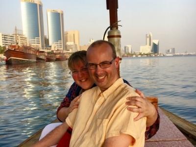 Doug and Tracy Collins in Dubai