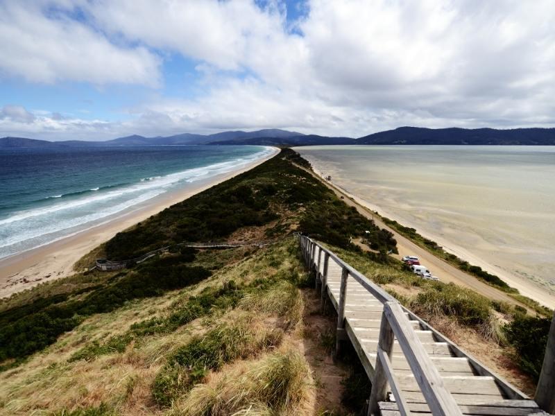 Neck Beach on Bruny Island in Tasmania Australia
