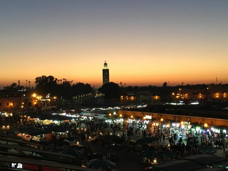 Rabat in Morocco at sunset