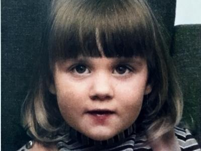 Tracy Collins as a child