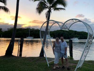 Tracy and Doug Collins in Port Douglas