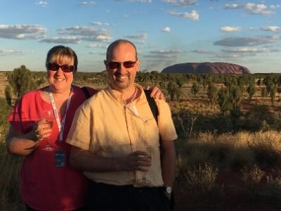Tracy and Doug Collins at Uluru
