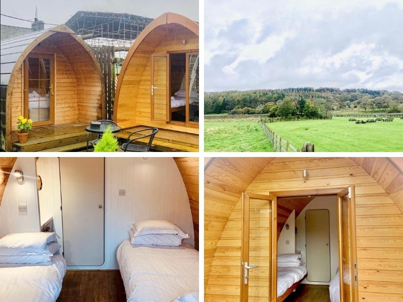 Twin glamping pods