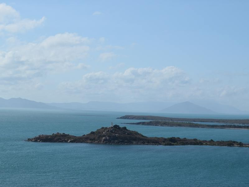 Whitsunday islands view from Bowen
