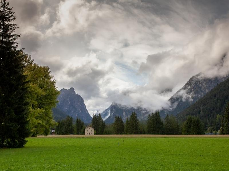 Beautiful southern Tyrol region of Italy