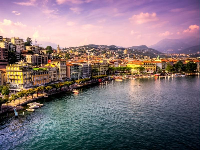 The beautiful city of Lugano is one of the most beautiful places to visit in Switzerland