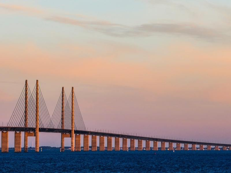 The Oresund Bridge connecting Denmark and Sweden | How to travel from Copenhagen to Malmo