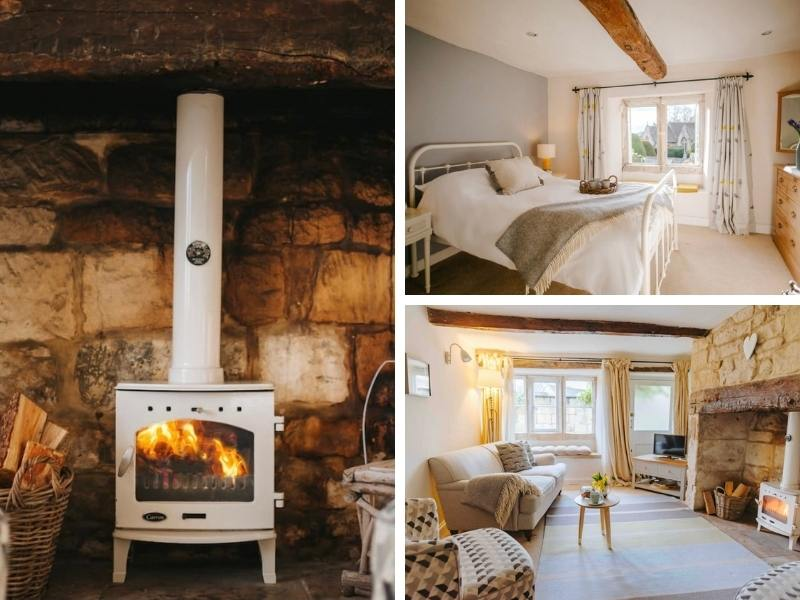 Interior of Honeysuckle cottage in the Cotswolds
