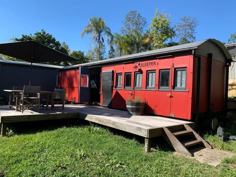 Little Red Train Carriage  - Image courtesy of AirBnB