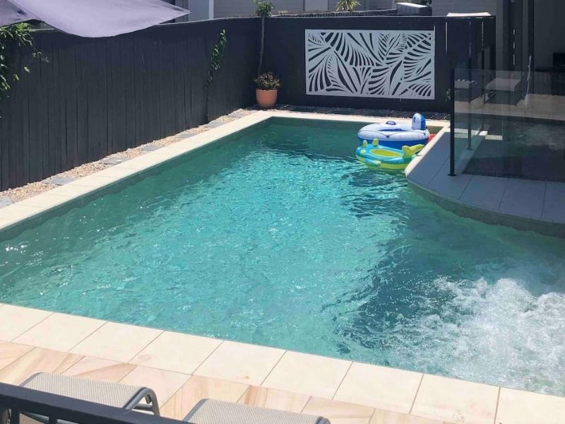 Pristine beach, private heated pool & pet friendly  - Image courtesy of AirBnB
