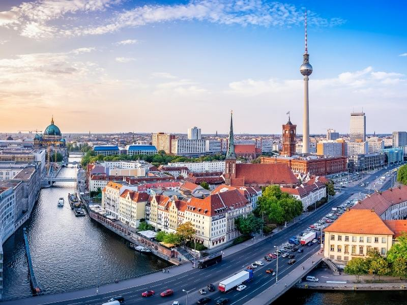 View of Berlin a city which appears in many German TV shows on Netflix.