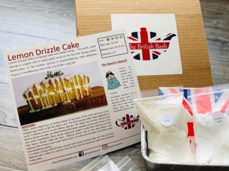 British cakes and recipe for Lemon drizzle cake