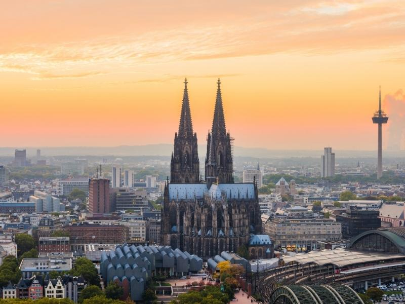 A view of the rooftops of Cologne.