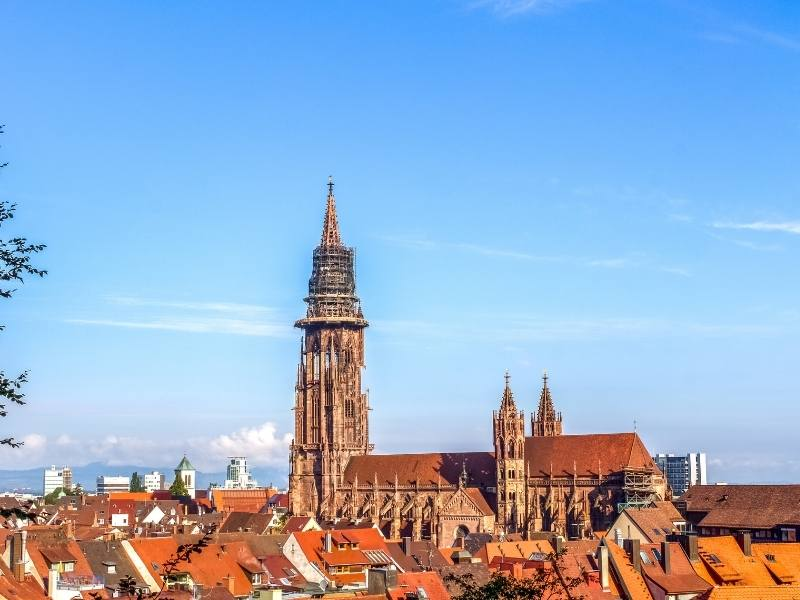 Freiburg in Germany where some popular German TV shows on Netflix are filmed.