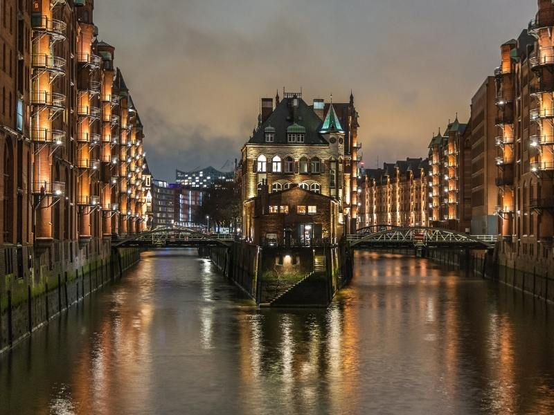 Hamburg a city which appears in some German TV shows on Netflix.
