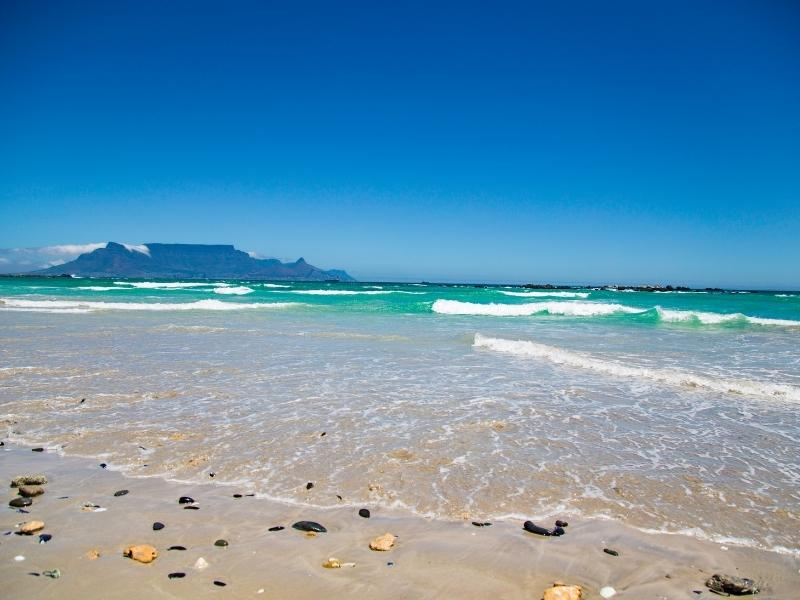 View of Table Mountain from Blouberg in South Africa