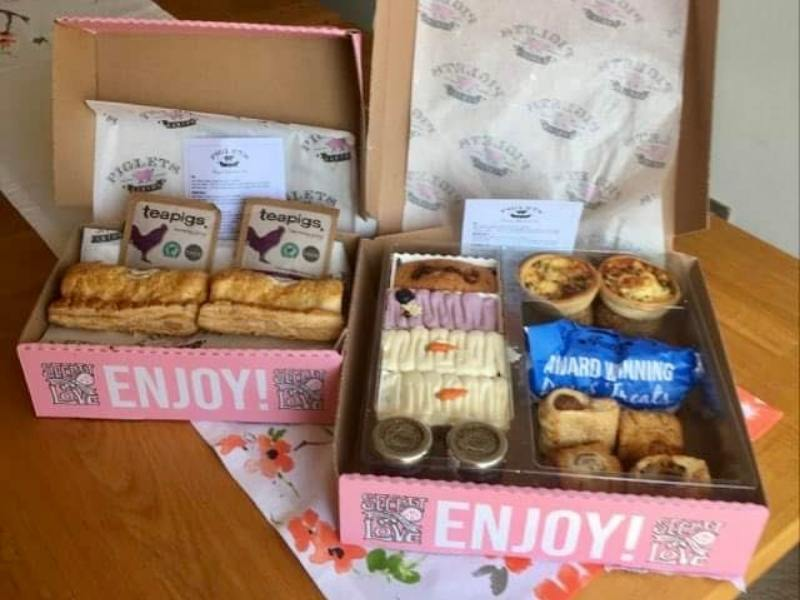 afternoon tea in a box.