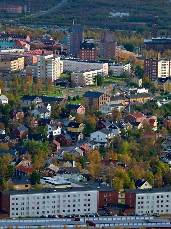 Kiruna Sweden as seen in a Nordic Noir Netflix series.