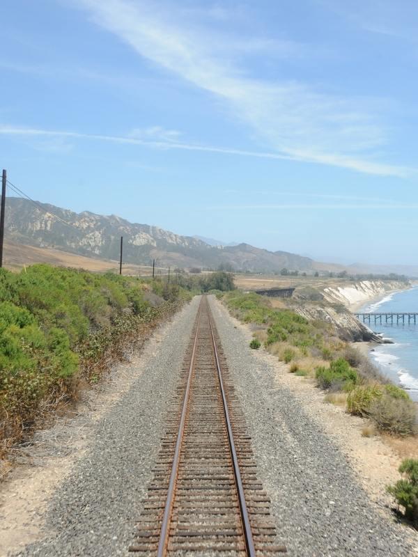 Route of the Coast Starlight along the coast of California.