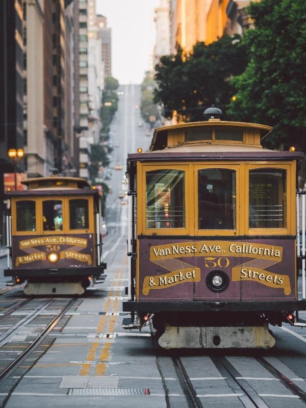 San Francisco street cars.