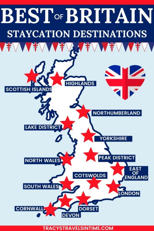 Discover the best of Britain with these beautiful destinations perfect for a staycation vacation. Includes guides to the Lake District, Peak District, Cornwall, Devon and many more popular UK destinations.