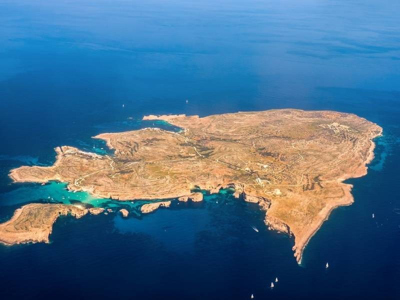 Comino from the air.