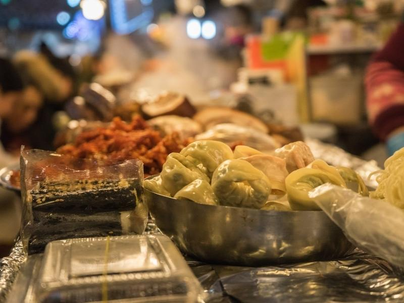 Seoul street food.