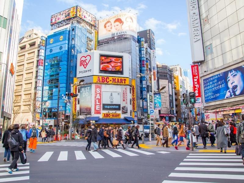 Street scene in Tokyo.