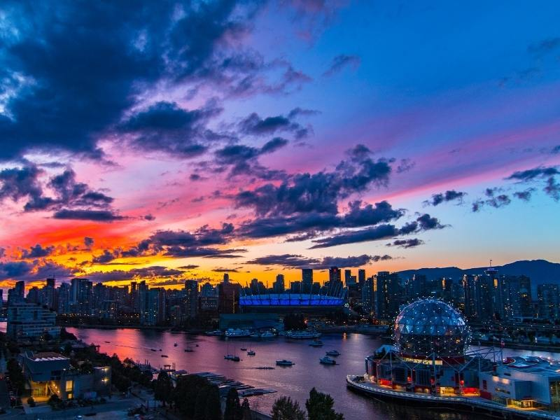 Vancouver at sunset