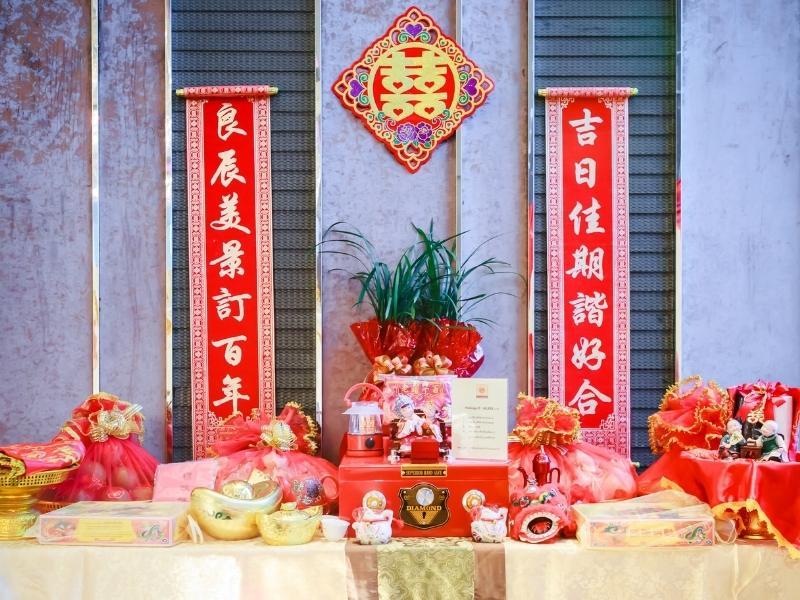 Wedding decor in China.