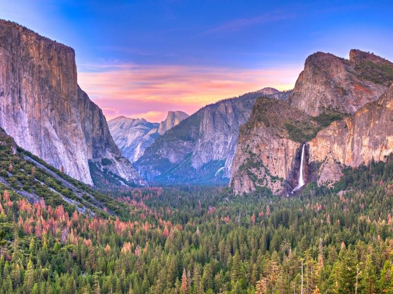 El Capitan rock face and view of Yosemite National Park and star of one of the hit travel documentaries on Netflix in 2021.