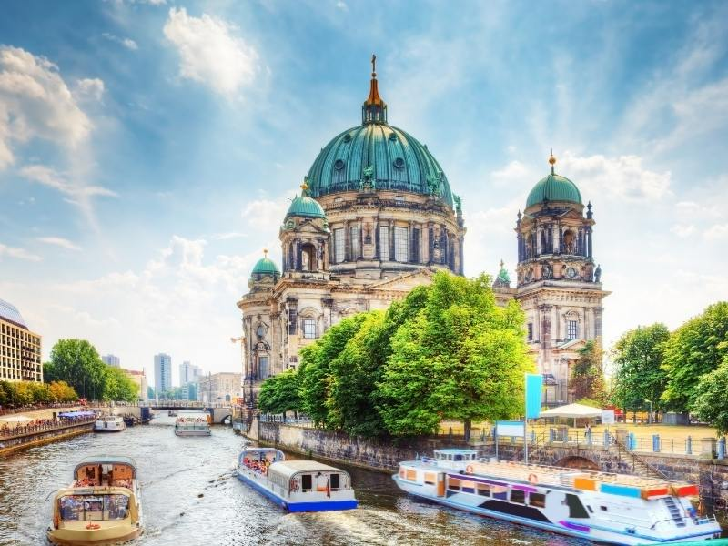 View of Museum Island in Berlin.