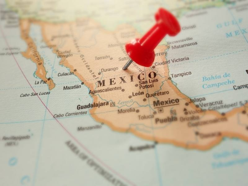 Many Spanish movies (Spanish language) are made in Mexico as shown on the map.