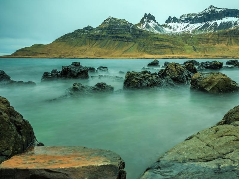 Reyðarfjörður in Iceland.