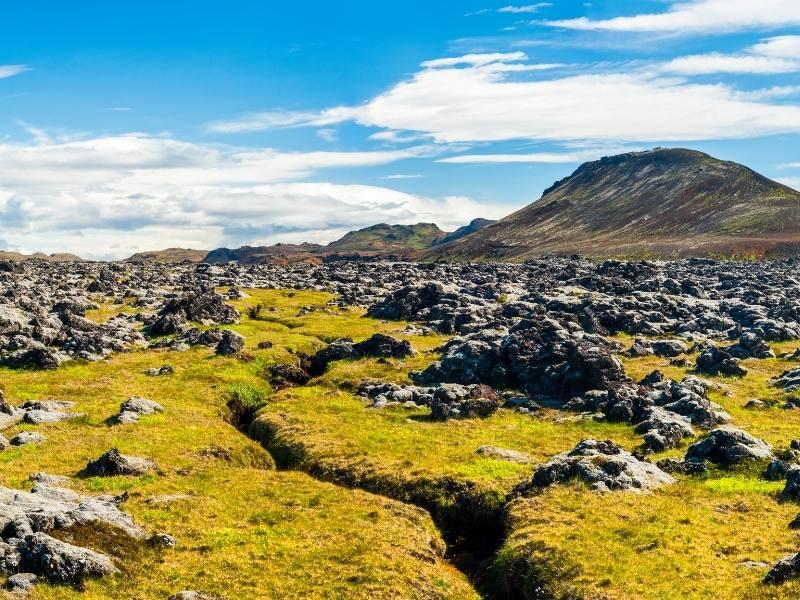 Reykjanes peninsula in Iceland.