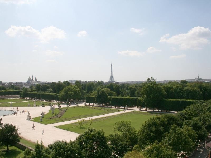 Jardin des Tuileries in Paris France.