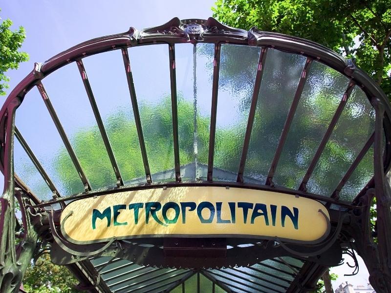 Metropolitan sign in Paris France