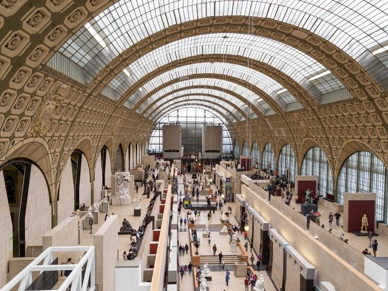Musee D'orsay in Paris France.