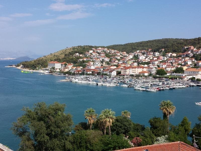 Aerial view of Trogir in Croatia.